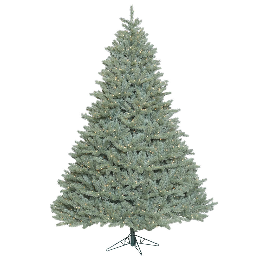 7.5 Foot Colorado Blue Spruce Artificial Christmas Tree with 1250 Clear Lights