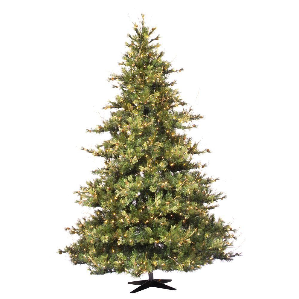 12 Foot Mixed Country Pine Artificial Christmas Tree Unlit