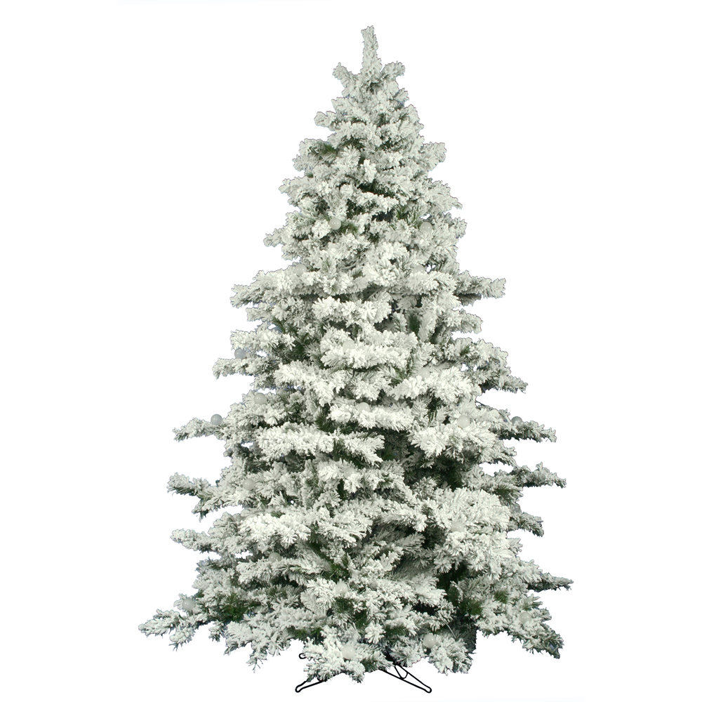 6.5 Foot Flocked Alaskan Pine Unlit Artificial Christmas Tree Unlit