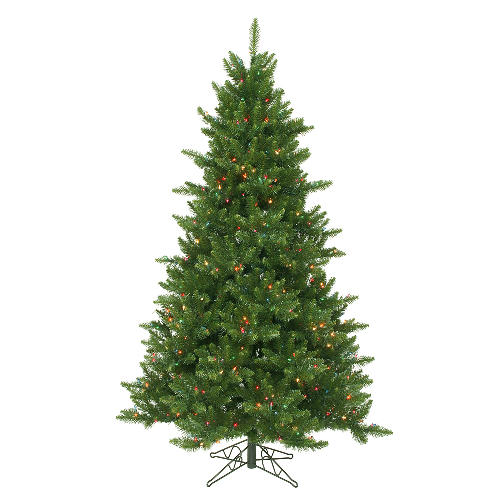 6.5 Foot Camdon Fir Artificial Christmas Tree 600 LED M5 Italian Multi Colored Lights