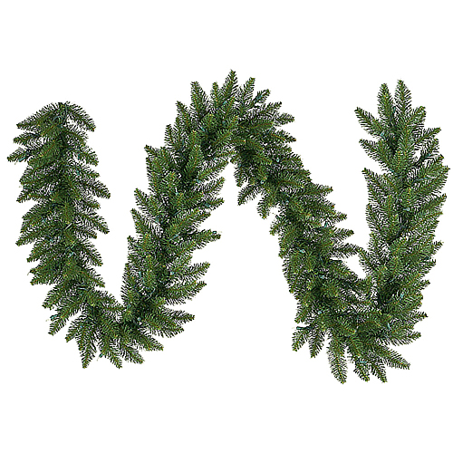 9 Foot Camdon Fir Artificial Christmas Garland 16 Inch Wide Unlit