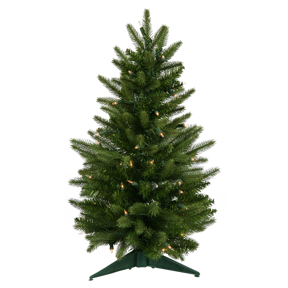 24 Inch Frasier Fir Artificial Christmas Tree 50 DuraLit Clear Light