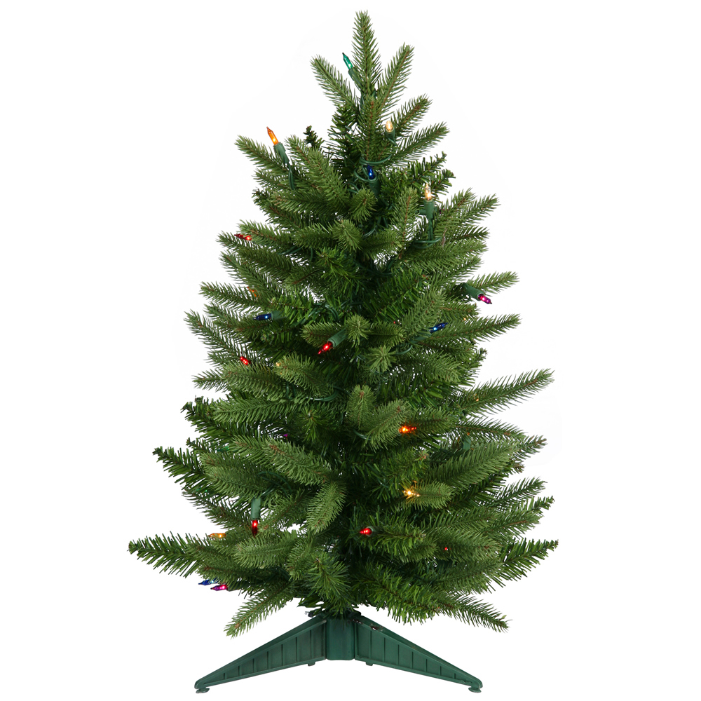 2 Foot Frasier Fir Artificial Christmas Tree 50 DuraLit Multi Color Lights