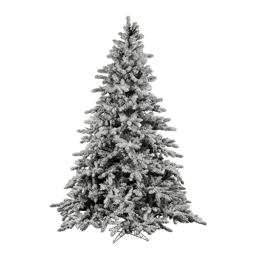 6.5 Foot Flocked Utica Artificial Christmas Tree Unlit