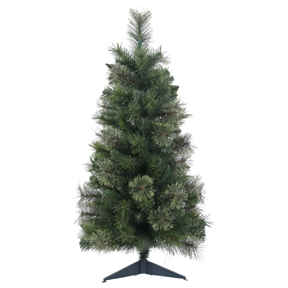 2 Foot Butte Mixed Pine Artificial Christmas Tree  Unlit