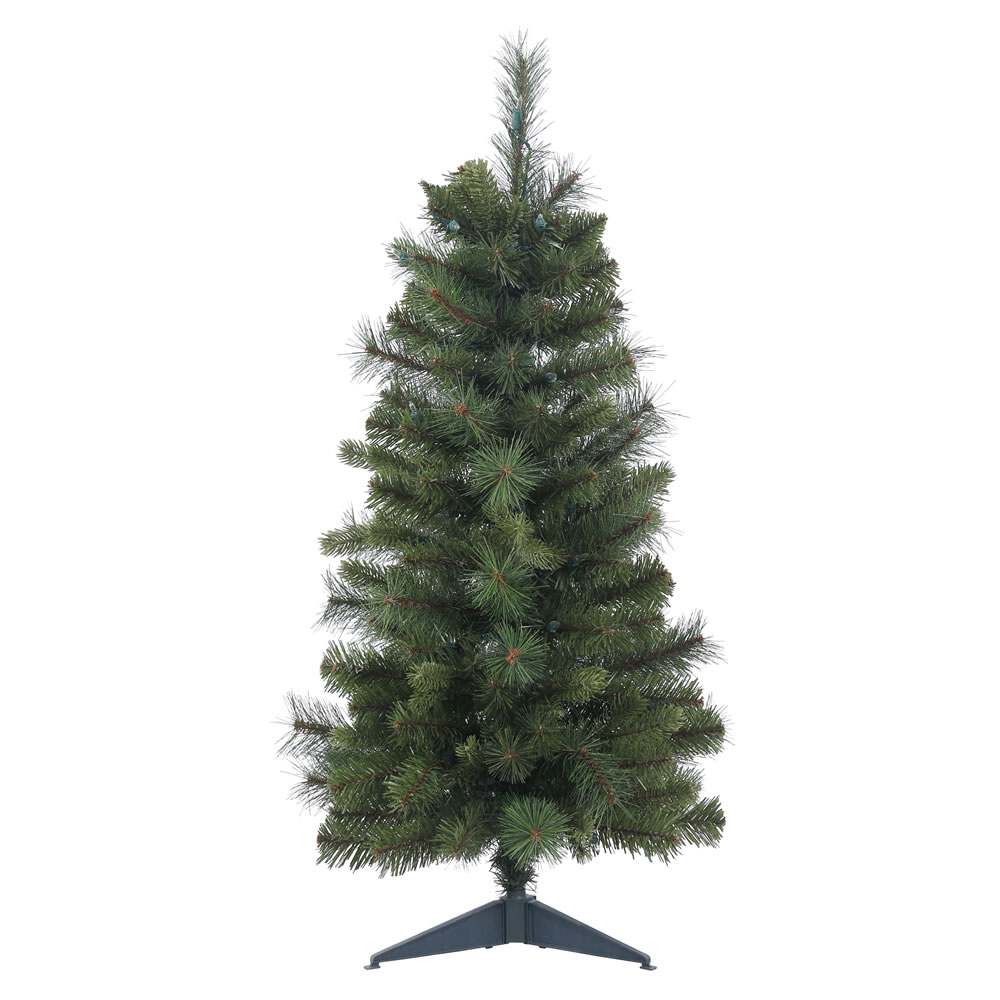 2 Foot Classic Mixed Pine Artificial Christmas Tree  Unlit