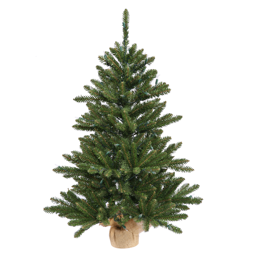 2 Foot Anoka Pine Artificial Christmas Tree Burlap Base Unlit