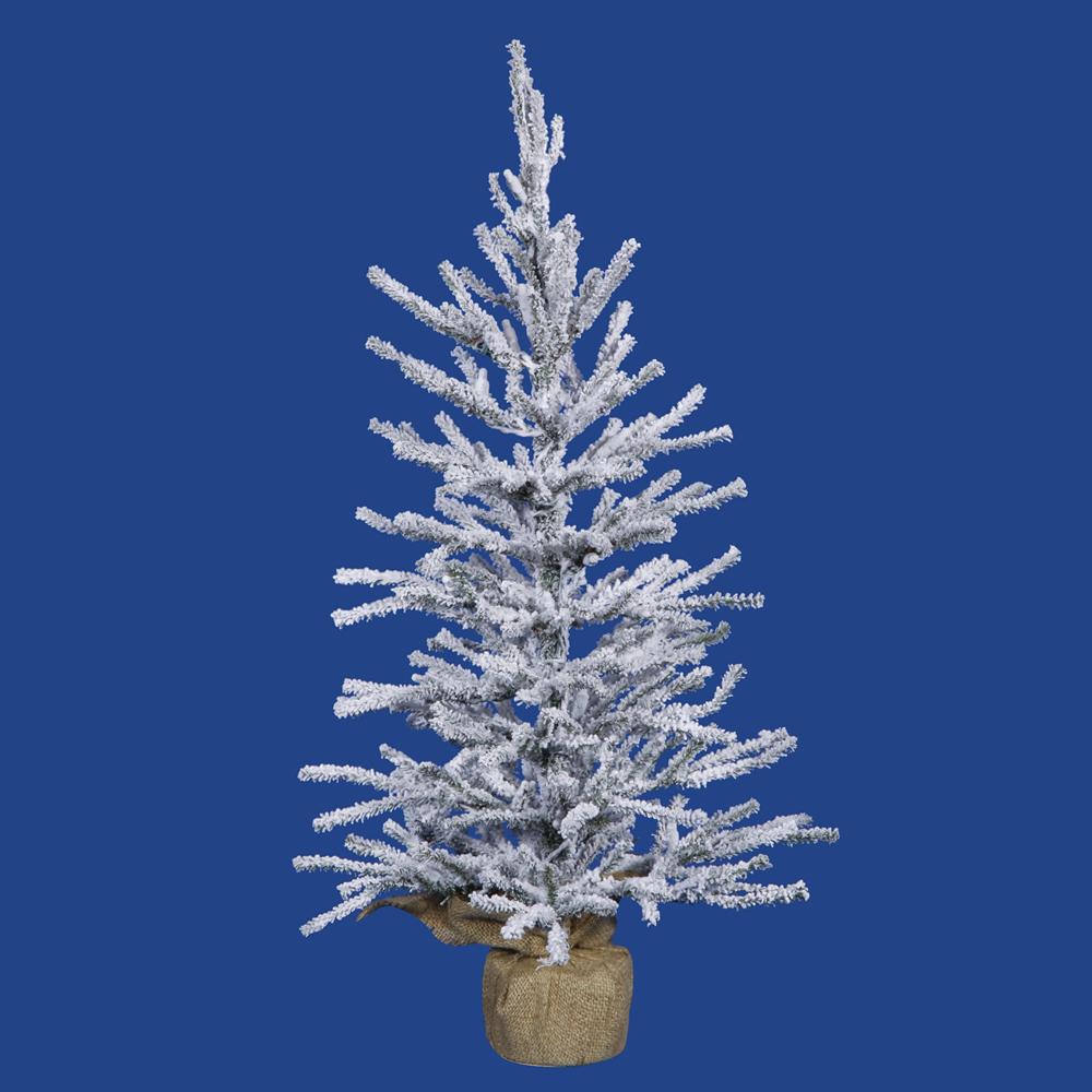 3 Foot Flocked Angel Pine Artificial Christmas Tree   Unlit
