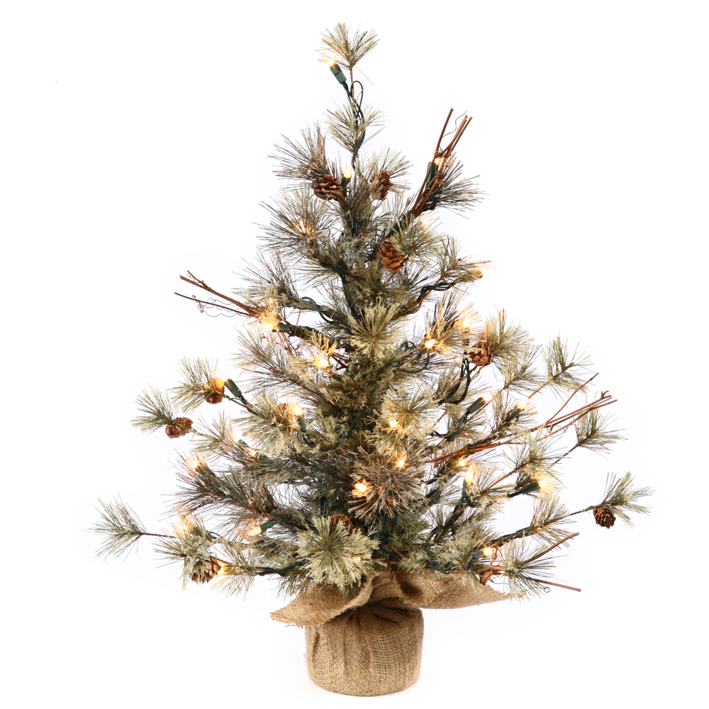 Artificial Christmas Trees - Prelit Table Top Artificial ...