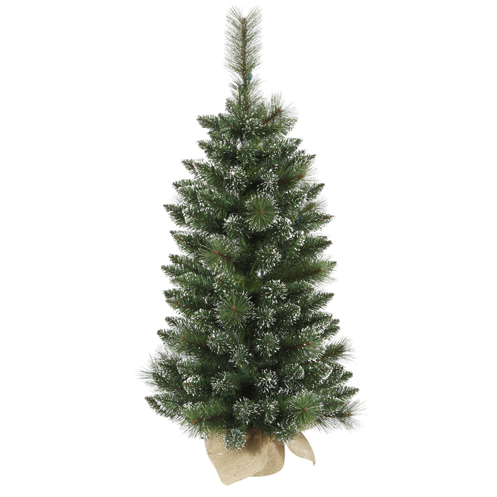 3 Foot Mixed Snow Tip Pine Artificial Christmas Tree Unlit