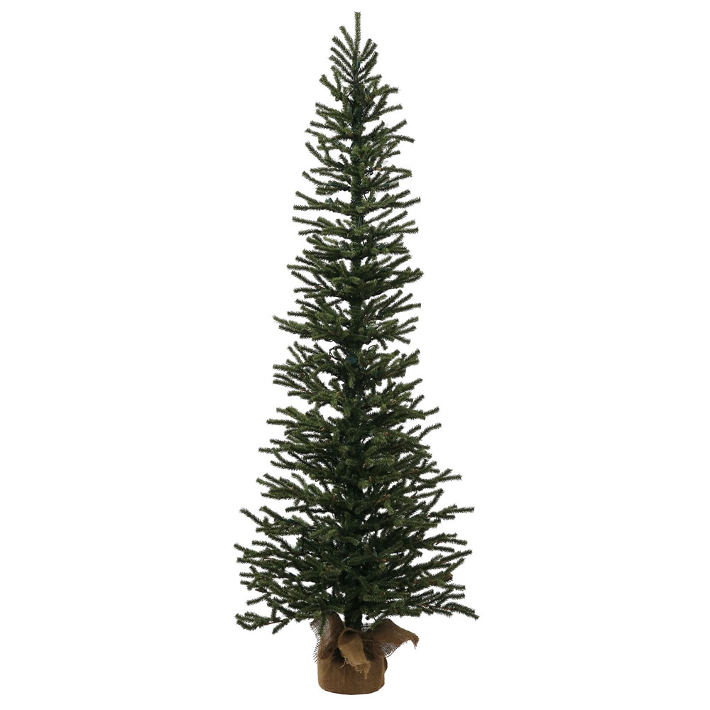 4 Foot Unlit Pine Artificial Christmas Tree Burlap Base