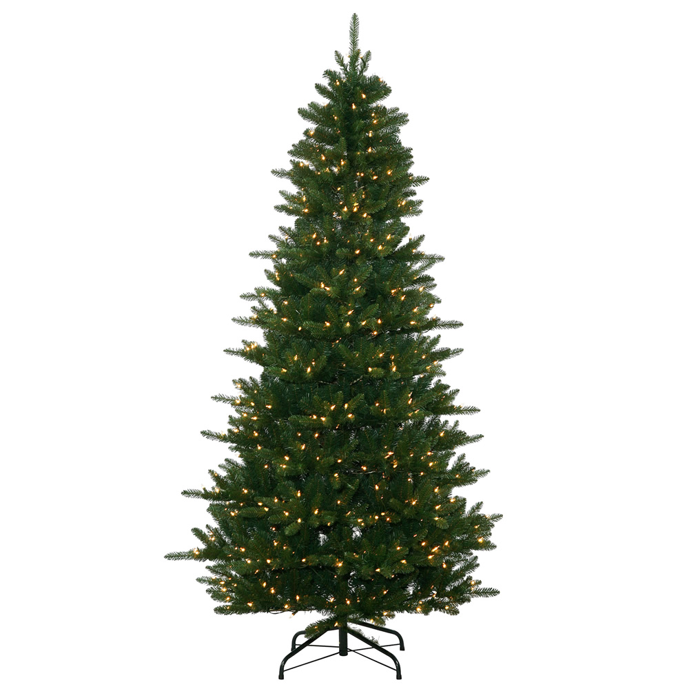 10 Foot Medium Nikko Frasier Instant Shape Artificial Christmas Tree 1400 DuraLit Incandescent Clear Mini Lights