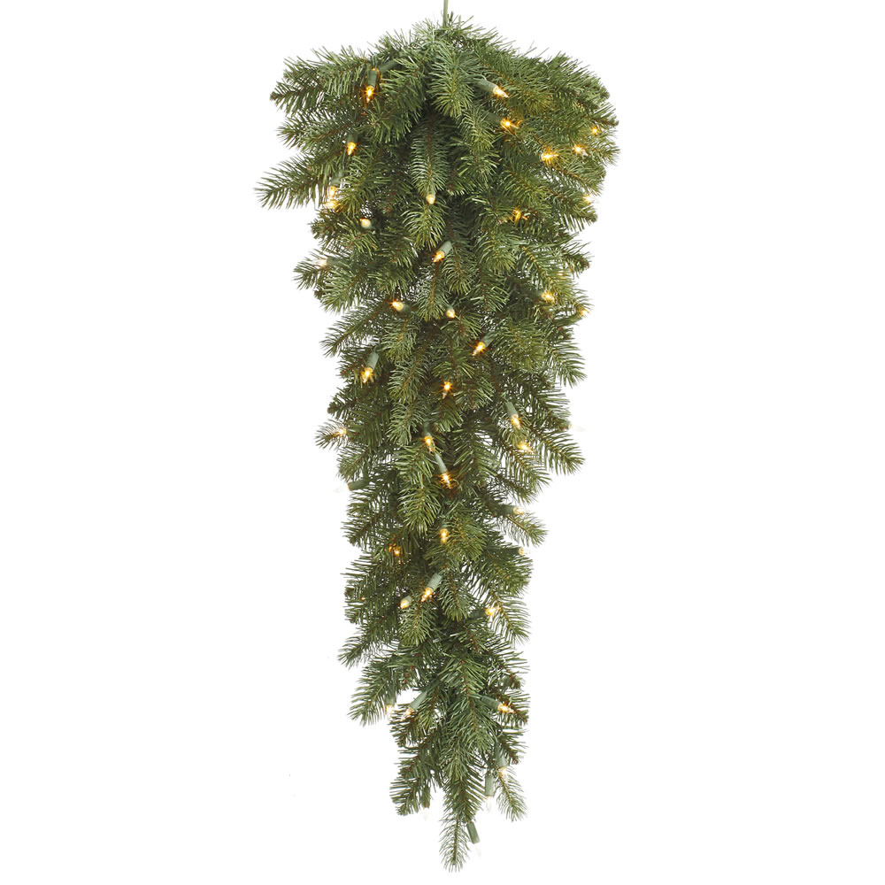 36 Inch Colorado Spruce Artificial Christmas Teardrop 40 LED Warm White Lights