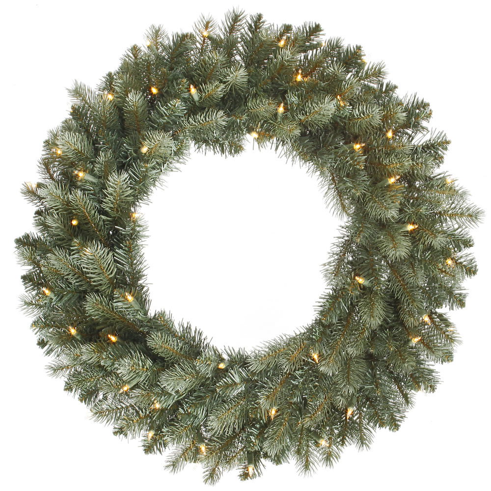 24 Inch Colorado Blue Wreath 50 DuraLit Clear Lights