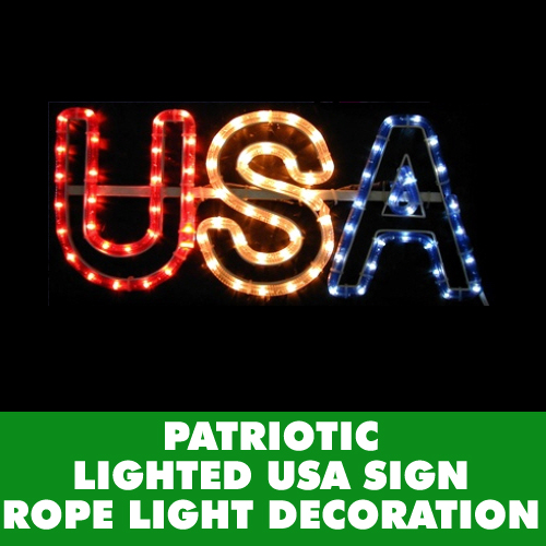 Spark Up July 4th With Our Lighted USA Rope Light Decoration