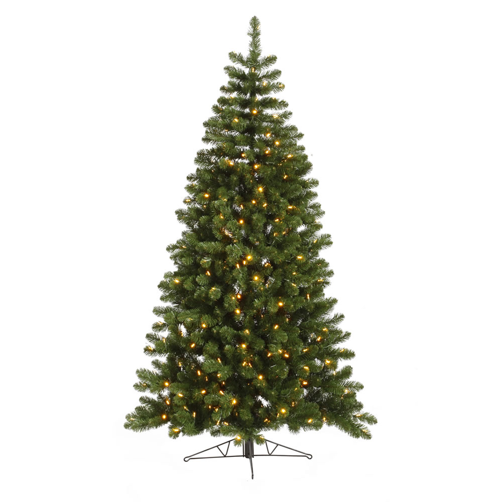 7.5 Foot Grand Teton Half Artificial Christmas Tree 250 LED Warm White Lights
