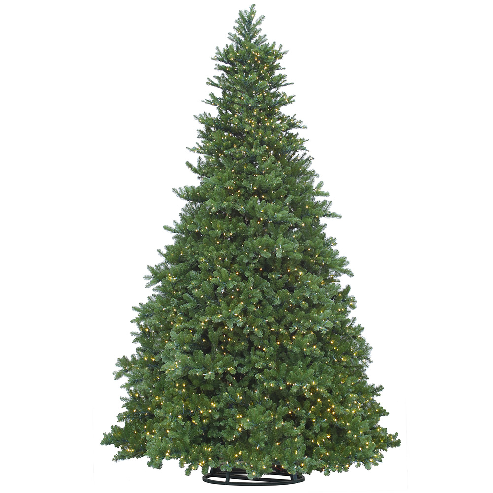 18 Foot New Grand Teton Artificial Commercial Christmas Tree 8650 LED 5MM Wide Angle Warm White Lights