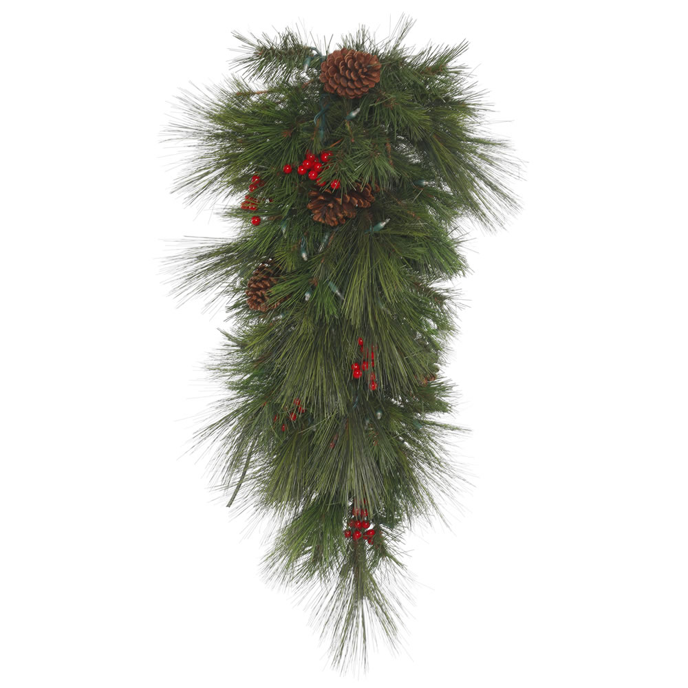 36 Inch Big Cascade Pine Artificial Christmas Teardrop Unlit