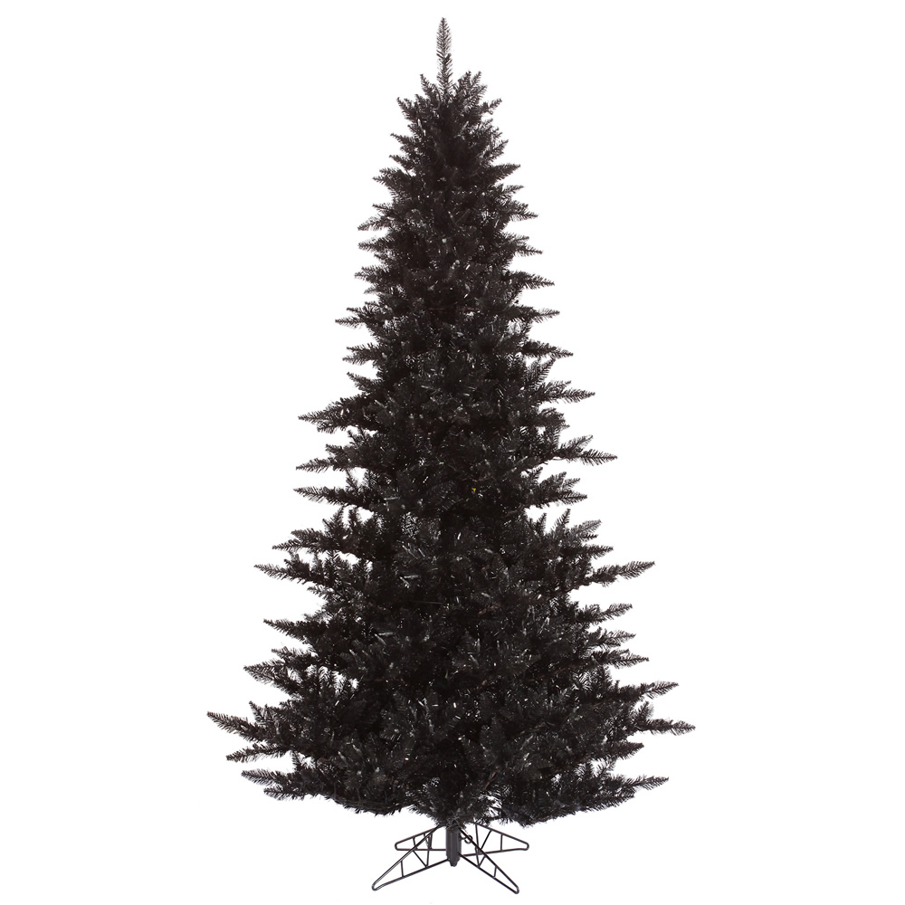 65 foot black fir artificial halloween tree unlit 65 foot tree 46 inch diameter item number k161765 price 42999 - Black Halloween Tree