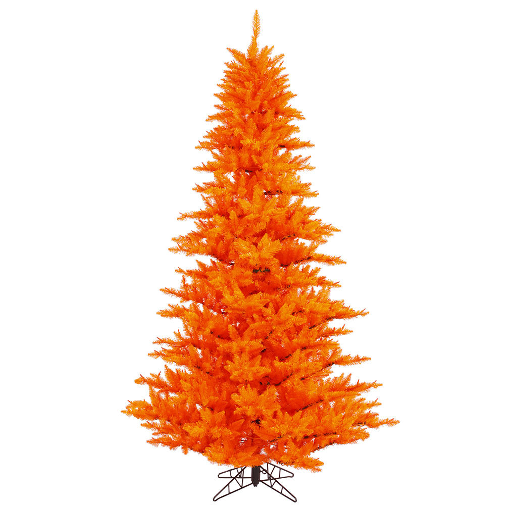 3 Foot Orange Fir Artificial Halloween Tree Unlit