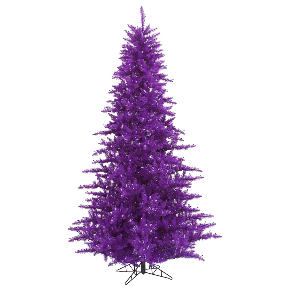 3 Foot Purple Fir Artificial Halloween Tree Unlit