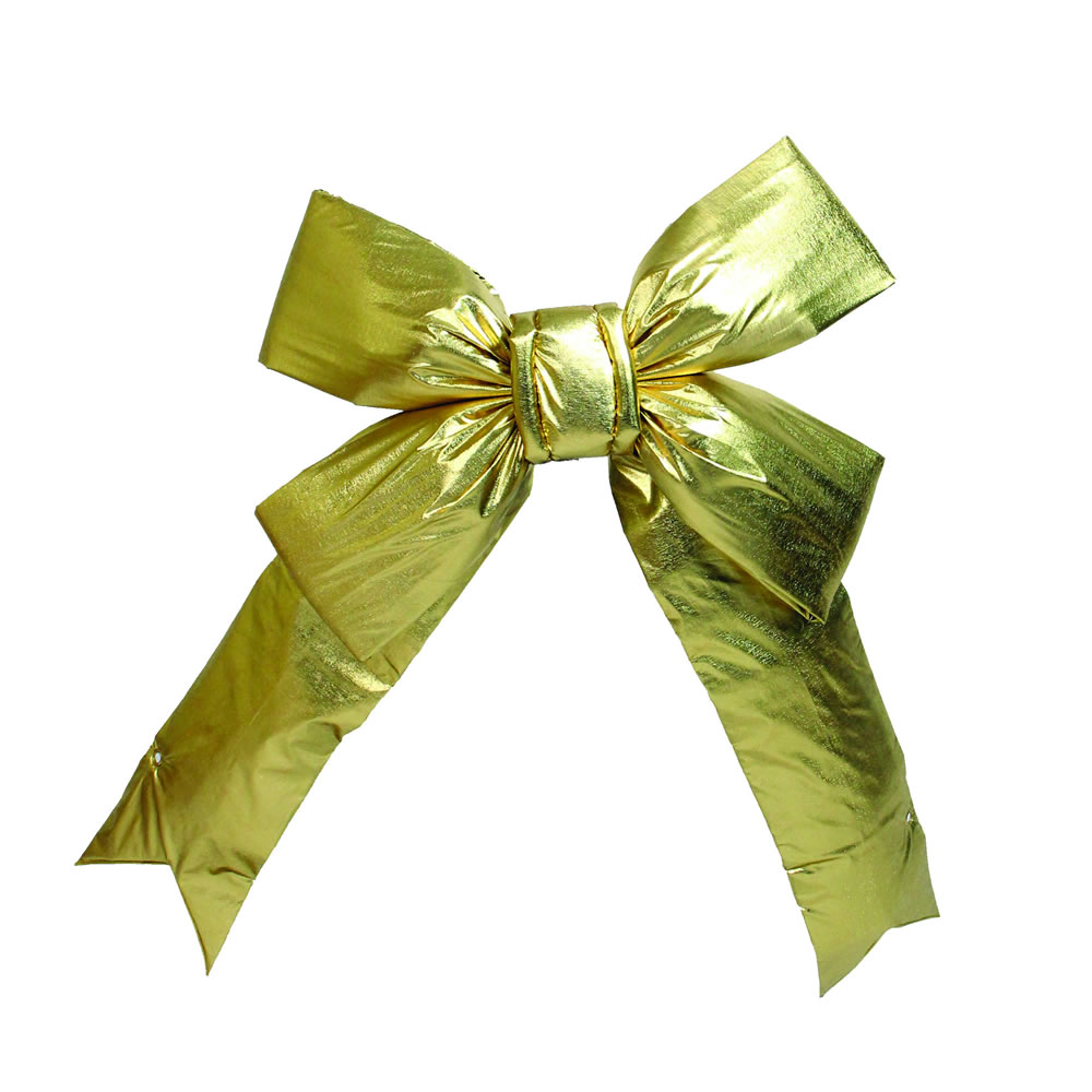15 Inch Gold Four Loop Lame Indoor Bow