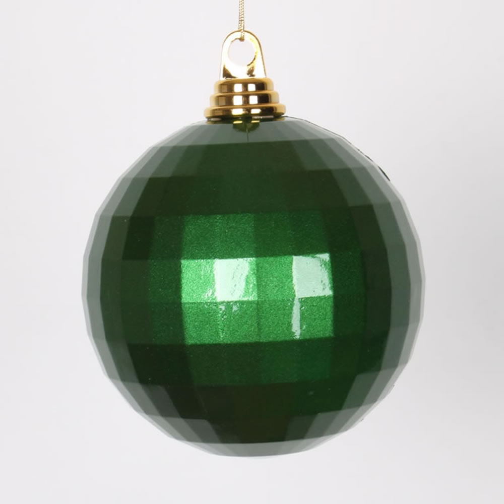 5.5 Inch Green Candy Finish Mirror Round Christmas Ball Ornament
