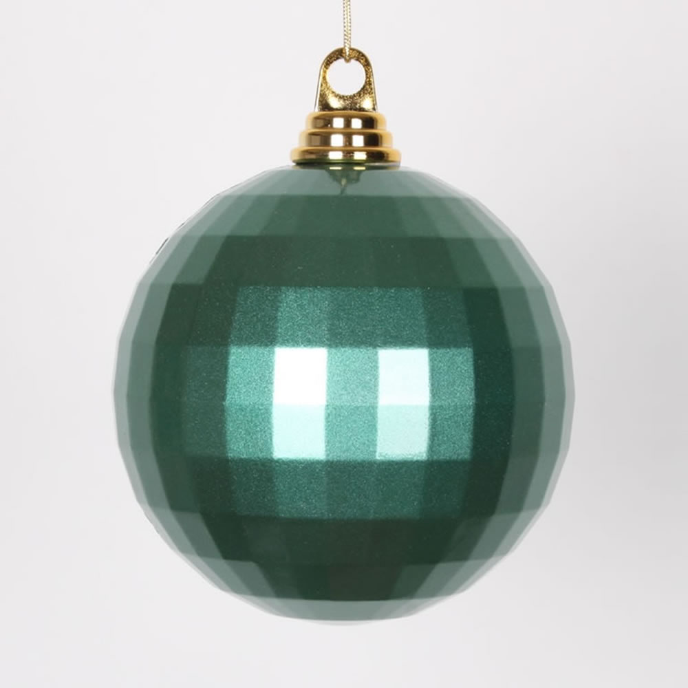 5.5 Inch Emerald Green Candy Finish Mirror Round Christmas Ball Ornament