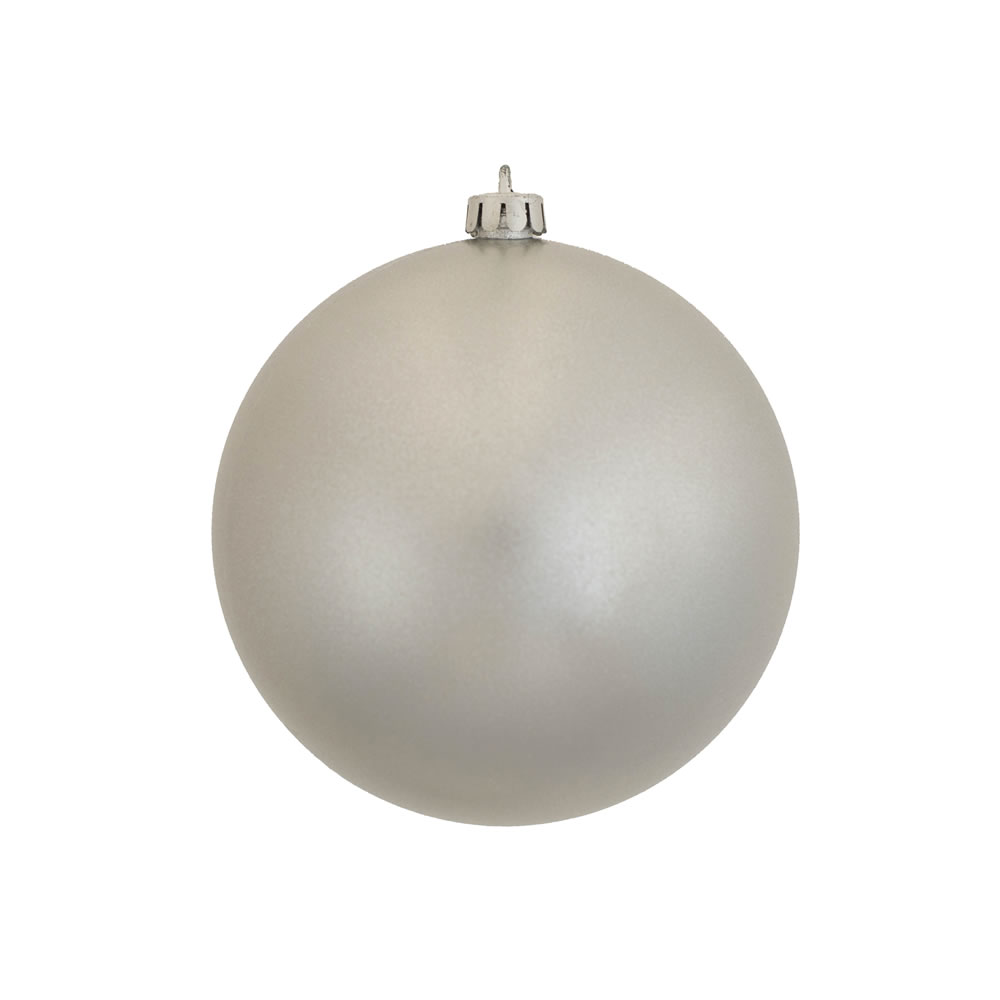 10 Inch Silver Candy Artificial Christmas Ornament - UV Drilled Cap