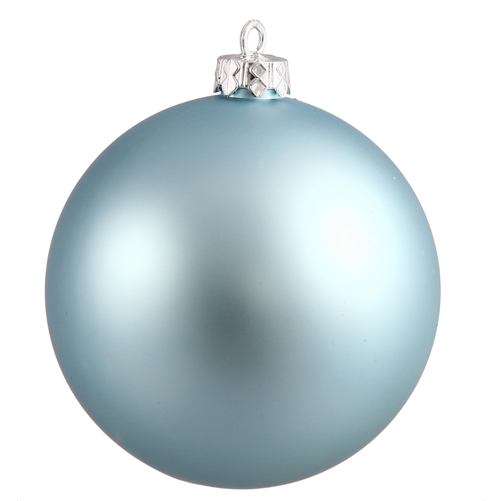 12 Inch Baby Blue Matte Round Shatterproof UV Christmas Ball Ornament