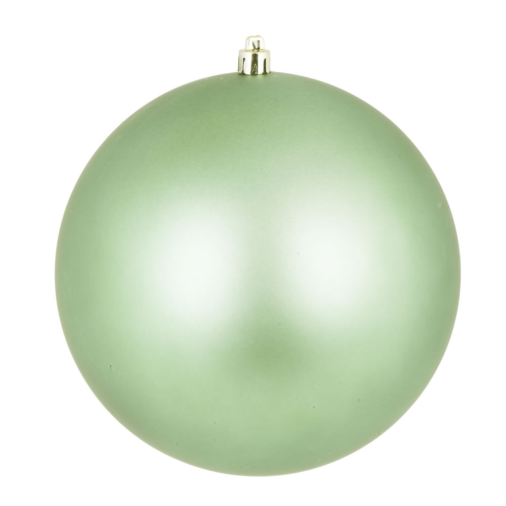 12 Inch Celadon Green Matte Round Shatterproof UV Christmas Ball Ornament