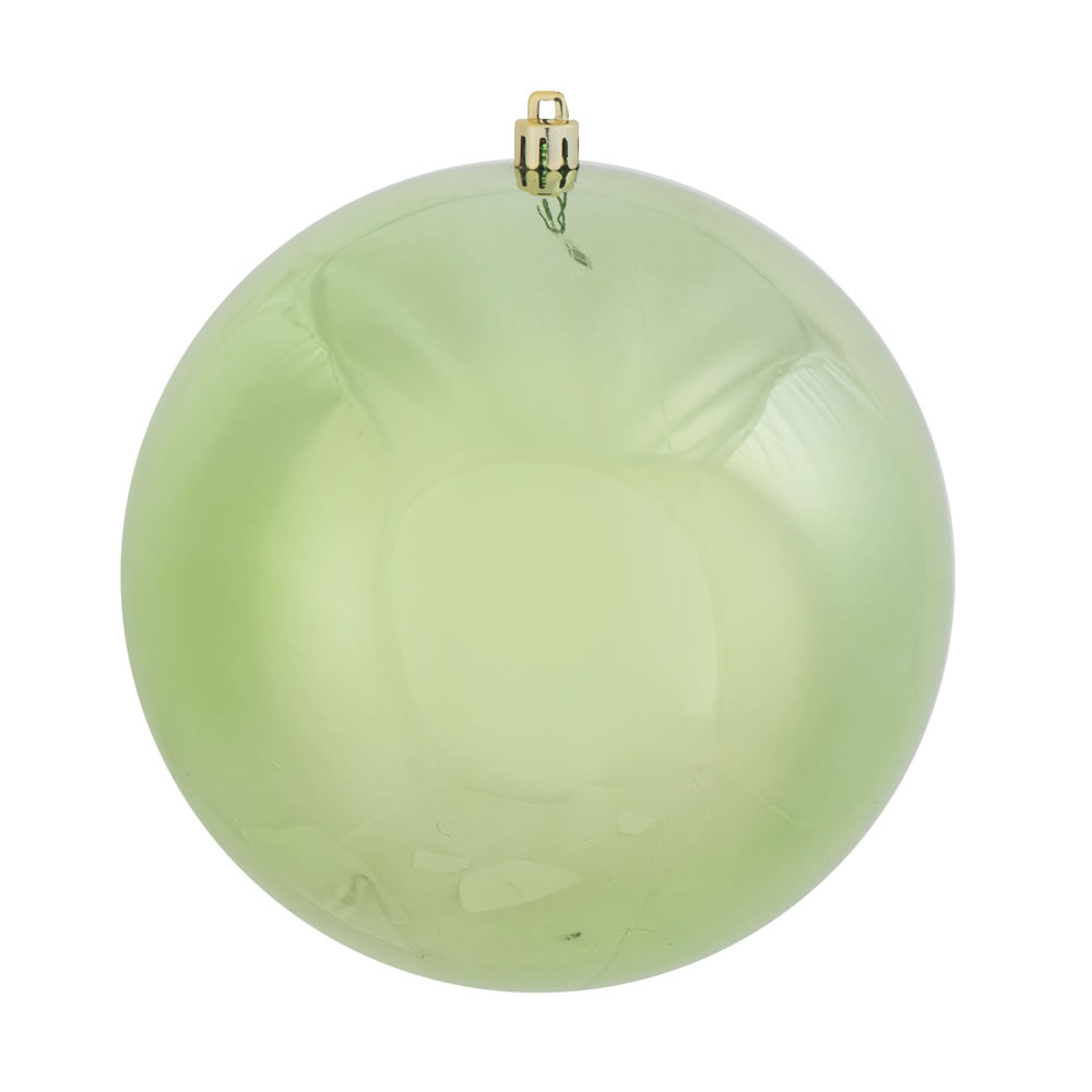 12 Inch Celadon Green Shiny Round Shatterproof UV Christmas Ball Ornament