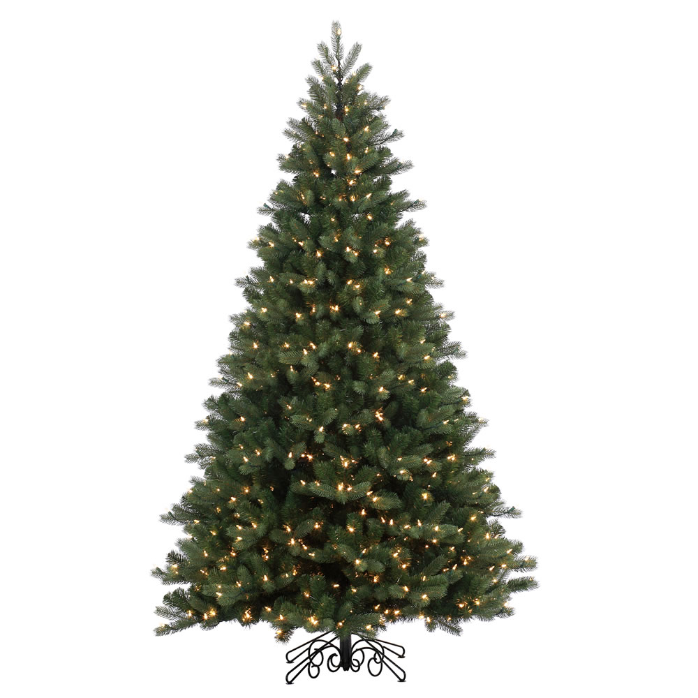 6.5 Foot Noble Spruce Instant Shape Artificial Christmas Tree 500 LED M5 Italian Warm White Mini Lights