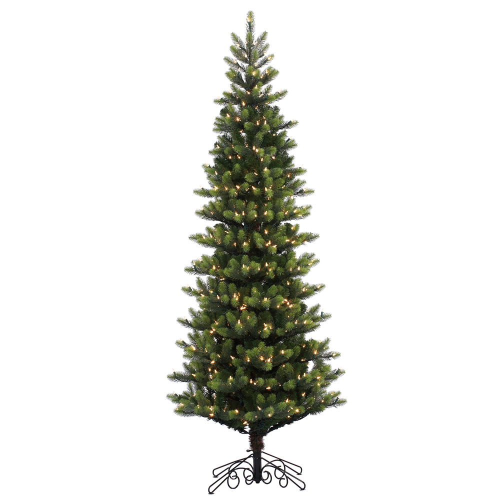 7.5 Foot Royal Instant Artificial Christmas Tree 600 LED Warm White Lights