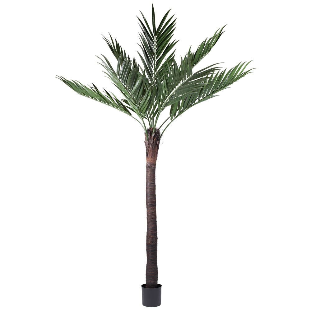 8 Foot Kentia Artificial Potted Palm Tree Unlit UV Flame Retardant