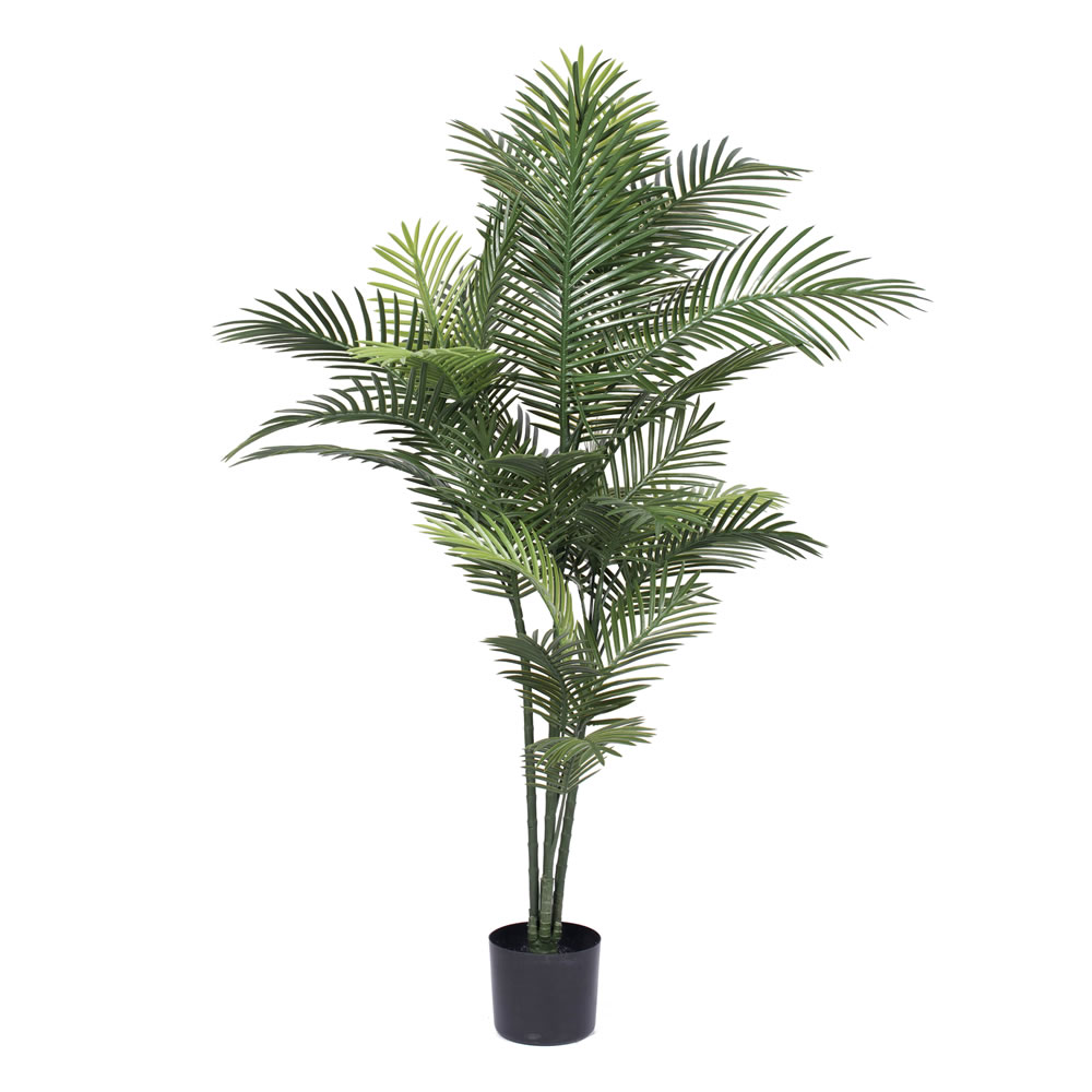 5 Foot Robellini Artificial Potted Palm Tree Unlit UV Flame Retardant