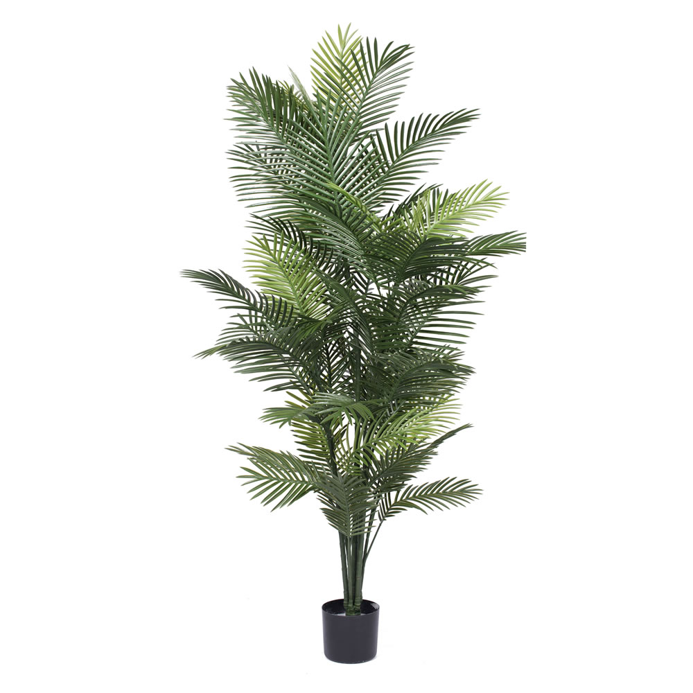 6 Foot Robellini Artificial Potted Palm Tree Unlit UV Flame Retardant