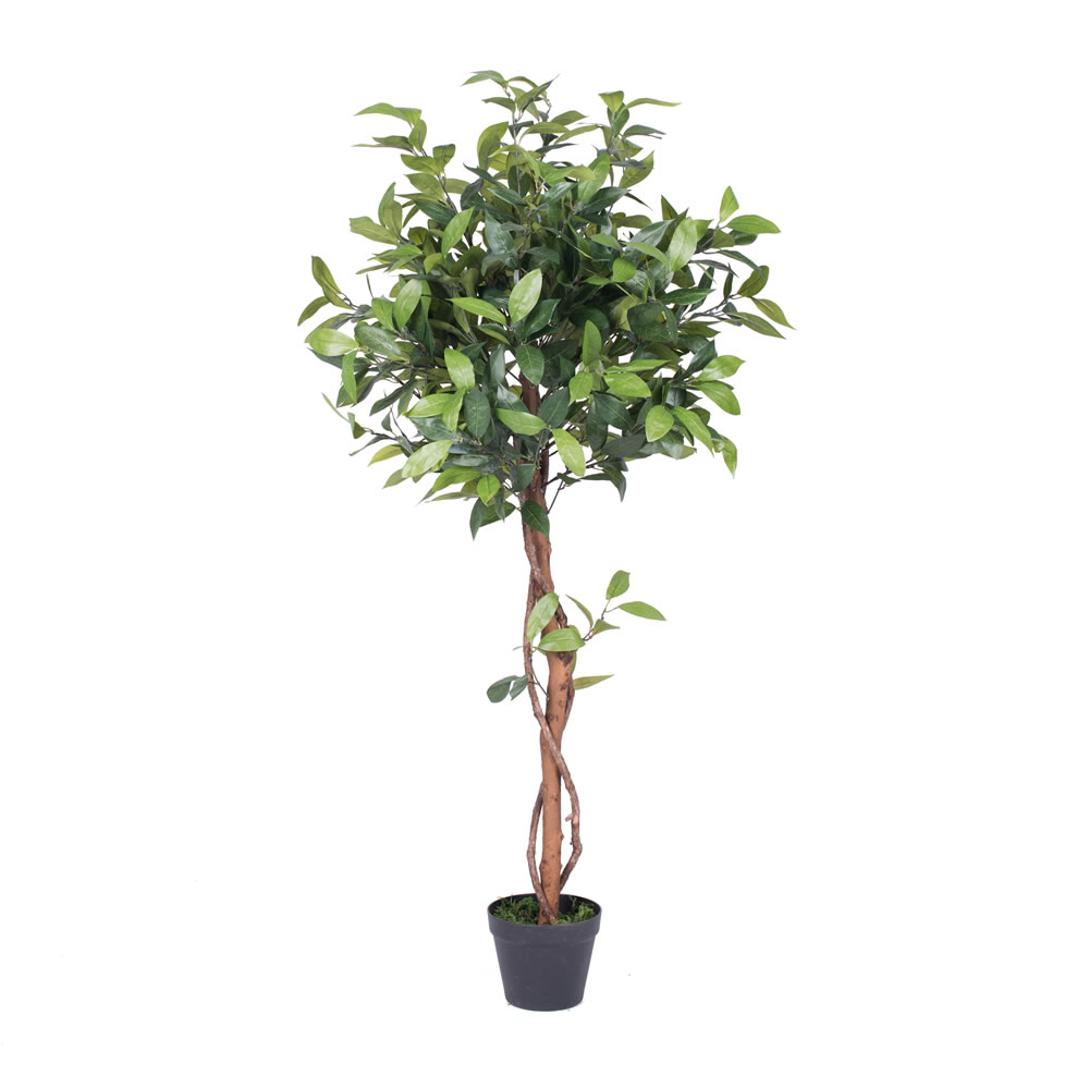 4 Foot Camellia Potted Artificial Tree