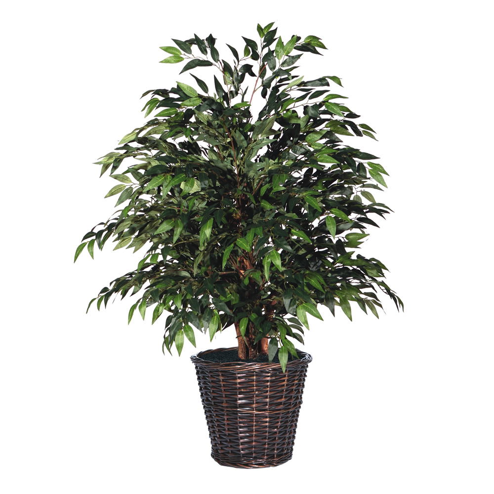 4 Foot Extra Full Green Smilax Potted Artificial Plant