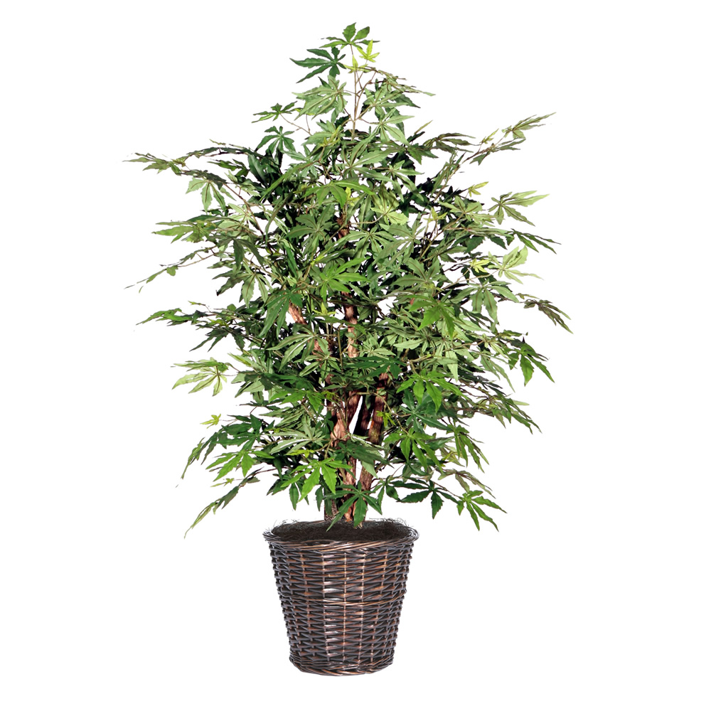 4 Foot Japanese Maple Artificial Potted Plant
