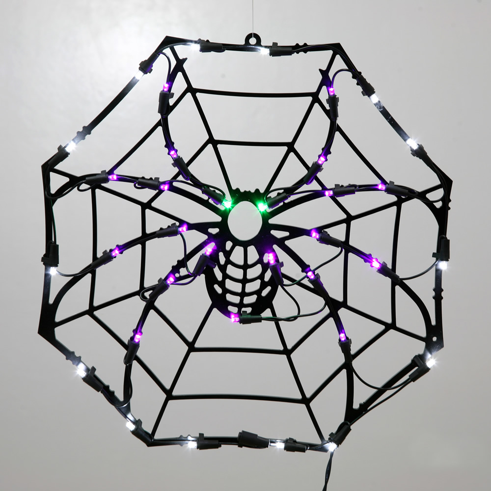 Halloween Spider Web LED Lighted Window Halloween Decoration  35 LED 5MM Wide Angle PolkaDot Lights