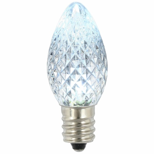 25 LED C7 Cool White Faceted Retrofit Night Light Replacement Bulbs