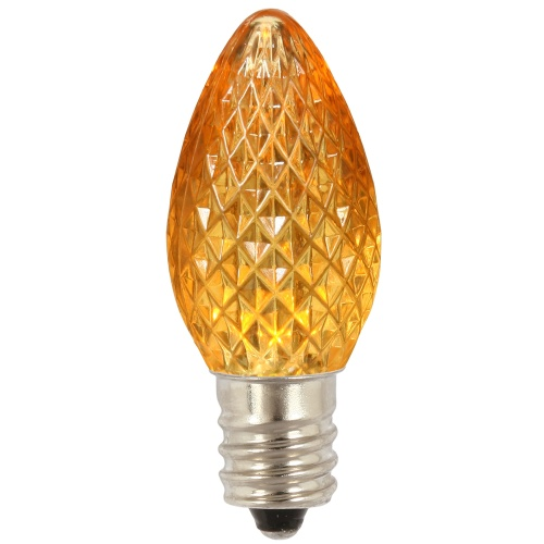 25 LED C7 Yellow Faceted Retrofit Night Light Replacement Bulbs