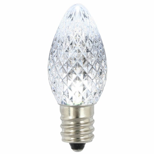 25 LED C7 Pure White Faceted Retrofit Night Light Replacement Bulbs
