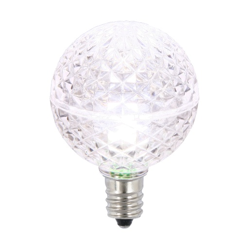 25 LED G40 Globe Pure White Faceted Retrofit Night Light C7 Socket Replacement Bulbs