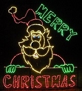 Merry Christmas Santa Claus LED Lighted Outdoor Christmas Decoration