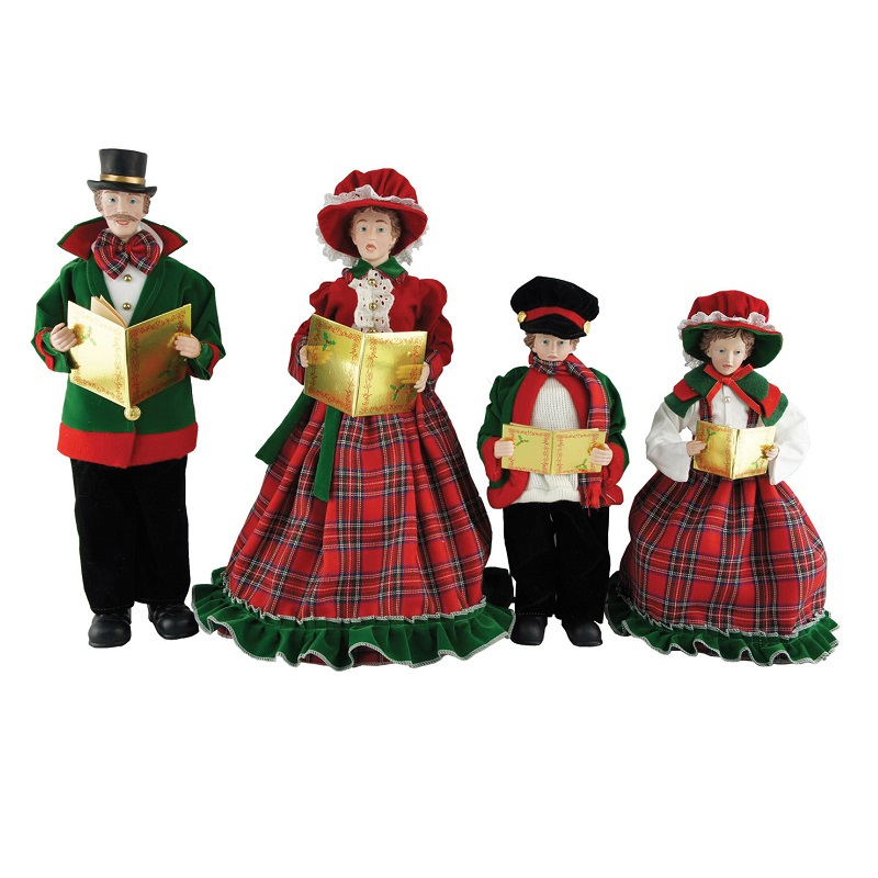 Christmas Day Family of Carolers Set of 4