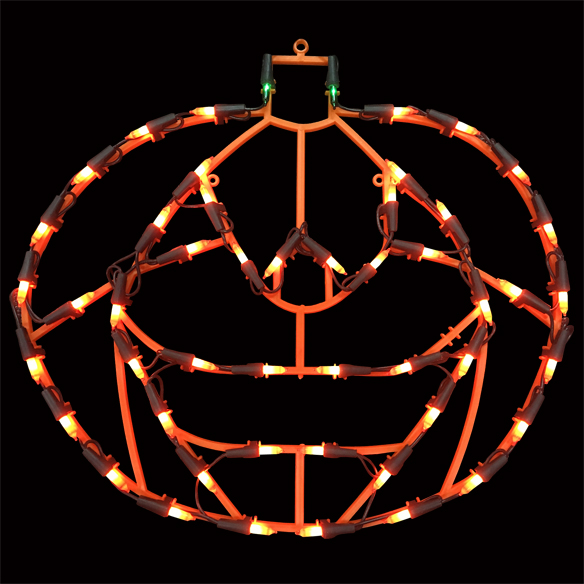 50 Light JackOLantern Pumpkin Lighted Window Halloween Decoration