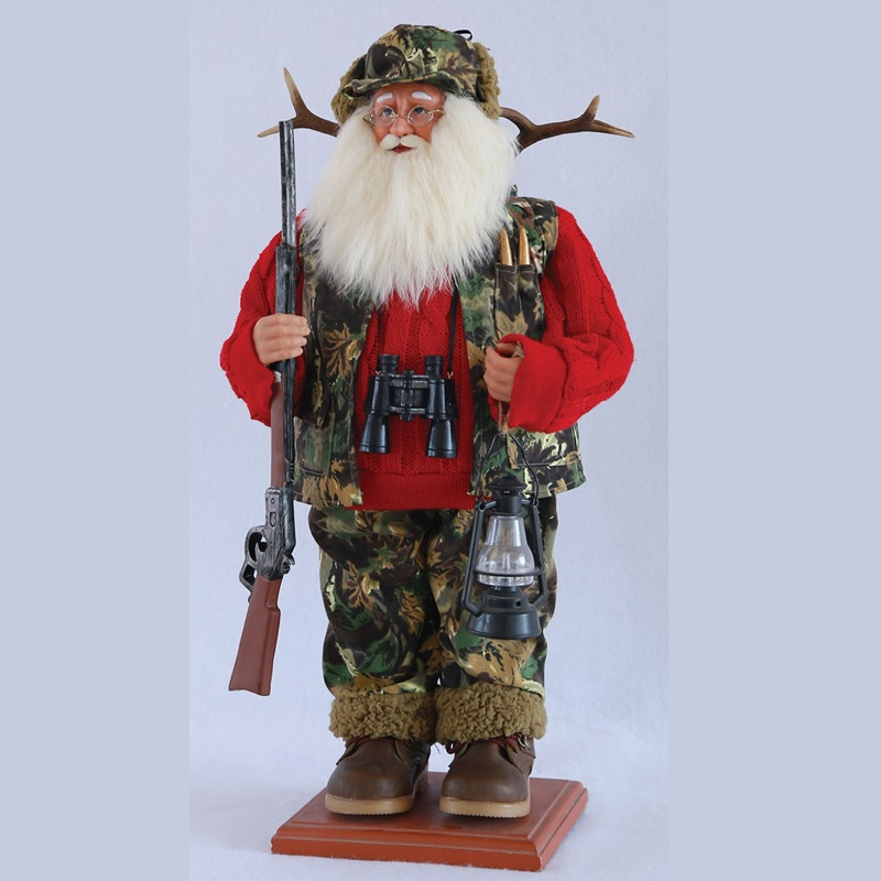 Santa Claus Hunting Figure