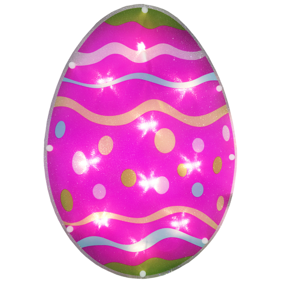 Easter Egg Lighted Window Decoration - 10 Incandescent Mini Bulbs